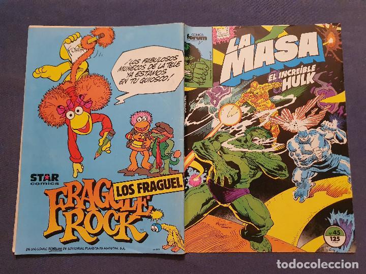 Cómics: LA MASA EL INCREIBLE HULK VOL 1 # 45 (FORUM) - 1986 - Foto 2 - 230951675