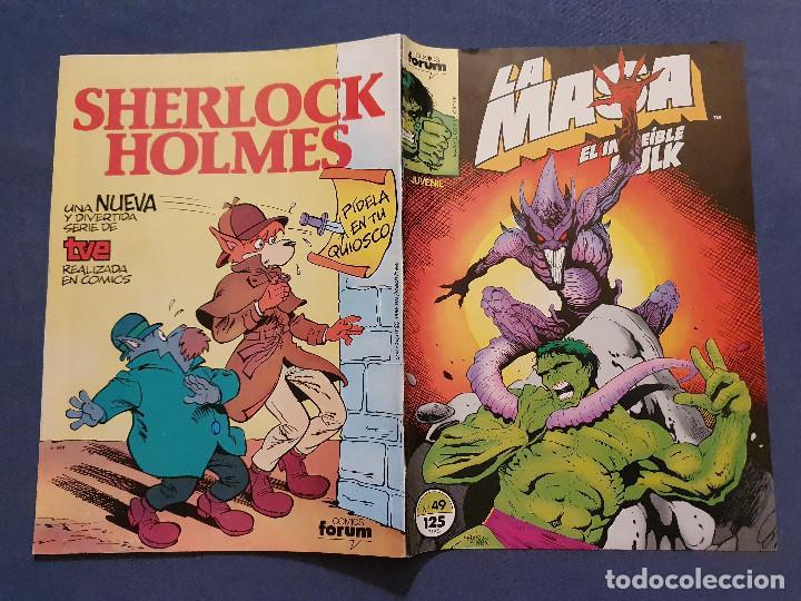 Cómics: LA MASA EL INCREIBLE HULK VOL 1 # 49 (FORUM) - 1986 - Foto 2 - 230951830