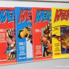 Comics: KAZAR VOL. 1 COMPLETA 20 NUMEROS EN 4 RETAPADOS - FORUM. Lote 231044745