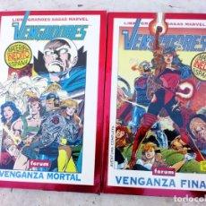 Comics: LOS VENGADORES 2 TOMOS GRANDES SAGAS: VENGADORES - VENGANZA MORTAL Y FINAL FORUM. Lote 231854310
