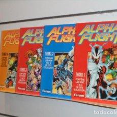 Cómics: ALPHA FLIGHT VOL. 2 COMPLETA 20 NUMEROS EN 4 TOMOS RETAPADOS - FORUM OCASION. Lote 231890955