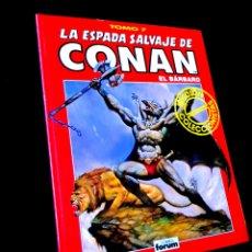 Cómics: EXCELENTE ESTADO LA ESPADA SALVAJE DE CONAN TOMO 7 SERIE ROJA COMICS FORUM. Lote 232255860