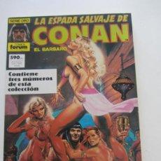 Comics: LA ESPADA SALVAJA DE CONAN EL BARBARO. RETAPADO Nº 80, 81, 82 FORUM AX39. Lote 232634682