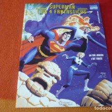 Comics : SUPERMAN LOS 4 FANTASTICOS ( JURGENS THIBERT ) MARVEL DC FORUM ALBUM TAMAÑO GRANDE GIGANTE. Lote 233205905