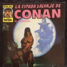 Comics : LA ESPADA SALVAJE DE CONAN EL BÁRBARO VOL.1 N.155 LOS OSCUROS JINETES DE LA MUERTE (1982/96). Lote 233357410