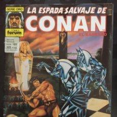 Comics : LA ESPADA SALVAJE DE CONAN EL BÁRBARO VOL.1 N.151 CUANDO SE DESPIERTA LA SERPIENTE DORADA (1982/96). Lote 233359670