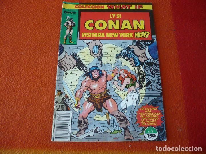 WHAT IF VOL. 1 Nº 1 Y SI CONAN VISITARA NEW YORK HOY ¡BUEN ESTADO! MARVEL FORUM (Tebeos y Comics - Forum - Otros Forum)