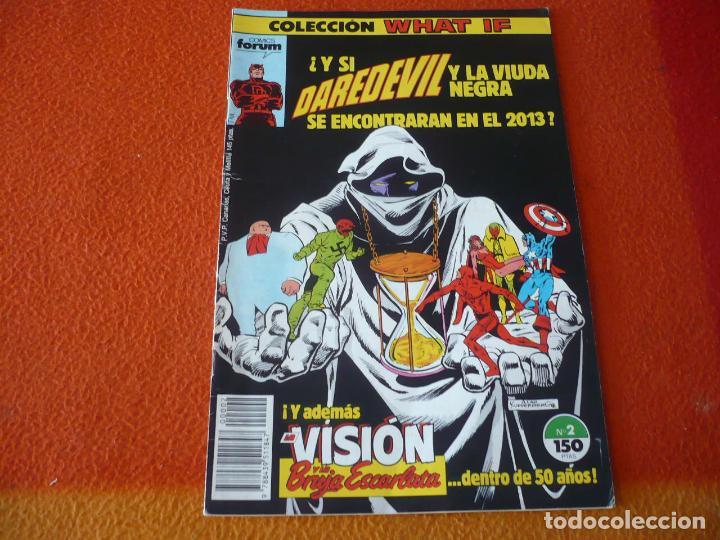 WHAT IF VOL. 1 Nº 2 DAREDEVIL Y LA VIUDA NEGRA ¡BUEN ESTADO! MARVEL FORUM (Tebeos y Comics - Forum - Otros Forum)
