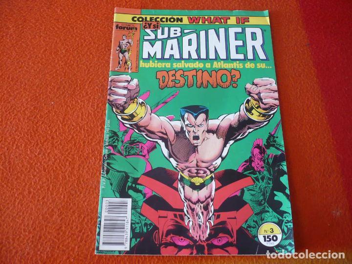 WHAT IF VOL. 1 Nº 3 NAMOR MARVEL FORUM SUBMARINER (Tebeos y Comics - Forum - Otros Forum)