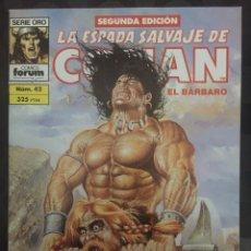 Comics : LA ESPADA SALVAJE DE CONAN EL BÁRBARO VOL.1 N.42 LA SIRENA ( 2@ EDICIÓN ). Lote 233537075