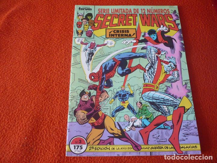 SECRET WARS Nº 3 2ª EDICION ( SHOOTER ZECK ) ¡MUY BUEN ESTADO! MARVEL FORUM SEGUNDA (Tebeos y Comics - Forum - Otros Forum)