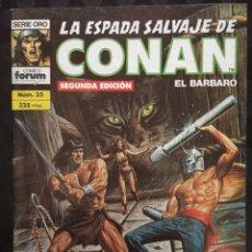 Comics : LA ESPADA SALVAJE DE CONAN EL BÁRBARO VOL.1 N.35 EL PÁJARO DE DIAMANTE ( 2@ EDICIÓN ). Lote 233670410