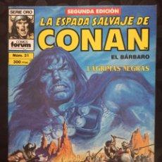 Comics : LA ESPADA SALVAJE DE CONAN EL BÁRBARO VOL.1 N.31 LA MALDICIÓN DE LA DIOSA GATO ( 2@ EDICIÓN ). Lote 233672500