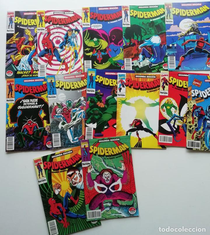 SPIDERMAN DE FORUM, NºS 4 A 14, 16 Y 17. SEGUNDA EDICIÓN. MUY BUEN ESTADO. (Tebeos y Comics - Forum - Spiderman)