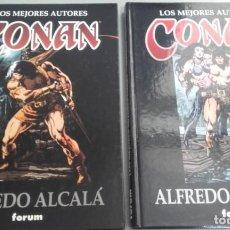 Cómics: X LOS MEJORES AUTORES DE CONAN. ALFREDO ALCALA 1 Y 2 (FORUM). Lote 233856435
