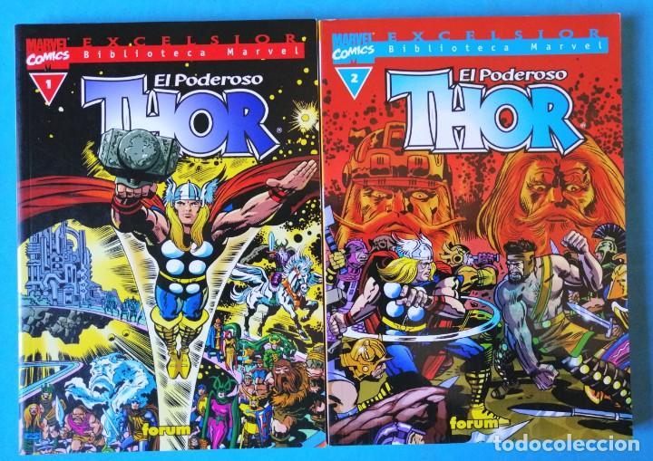 BIBLIOTECA MARVEL EXCELSIOR - THOR Nº 1 Y 2 - FORUM ''BUEN ESTADO'' (Tebeos y Comics - Forum - Thor)