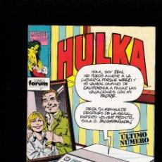 Cómics: HULKA - VOL. 1 - Nº 27 - ULTIMO NUMERO DE LA COLECCION - FORUM -. Lote 234406630
