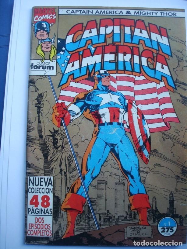 CAPITÁN AMÉRICA VOL. 2 (CON MIGHTY THOR) Nº 1 AL 13 (LOTE 8 NºS) 1, 4, 6, 7, 9, 10, 11, 13 (FORUM) (Tebeos y Comics - Forum - Capitán América)
