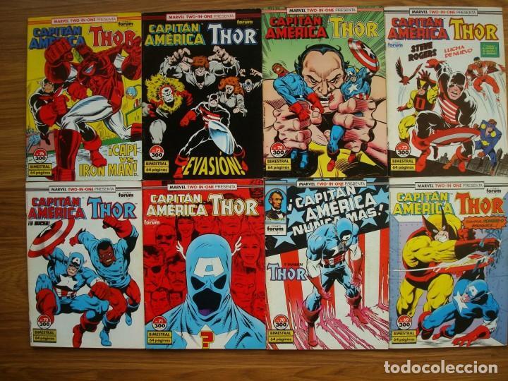 CAPITÁN AMÉRICA VOL. 1 Nº 12 AL 76 LOTE 46 NÚMEROS (FORUM) MARVEL (Tebeos y Comics - Forum - Capitán América)