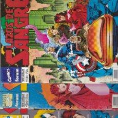 Cómics: LAZOS DE SANGRE - COMPLETA 1 - 2 - 3 - 4 Y 5 - VENGADORES X- MEN - FORUM -. Lote 234679070