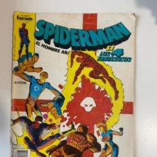 Cómics: SPIDERMAN Y LOS 4 FANTÁSTICOS. Nº 25. COMICS FORUM.. Lote 234860170