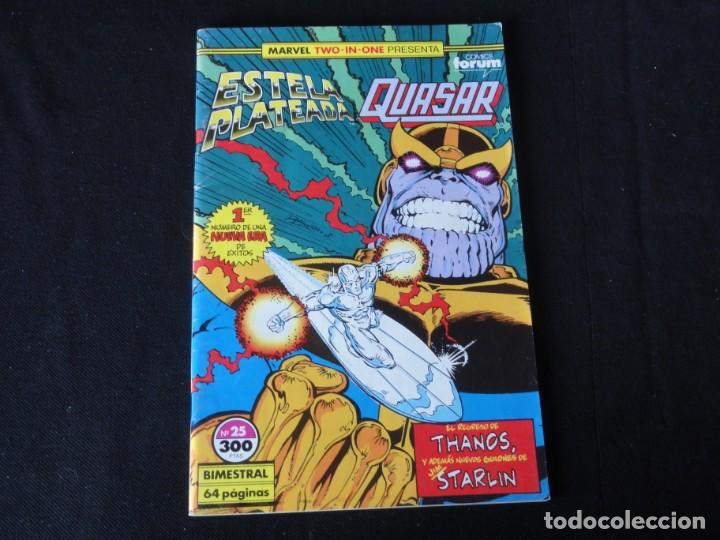 ESTELA PLATEADA-QUASAR. Nº 25. 1989. VOLUMEN 1. EDITORIAL FORUM. C-73 (Tebeos y Comics - Forum - Silver Surfer)