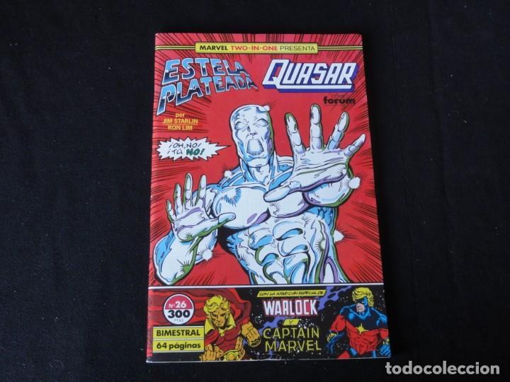 ESTELA PLATEADA-QUASAR. Nº 26. 1989. VOLUMEN 1. EDITORIAL FORUM. C-73 (Tebeos y Comics - Forum - Silver Surfer)