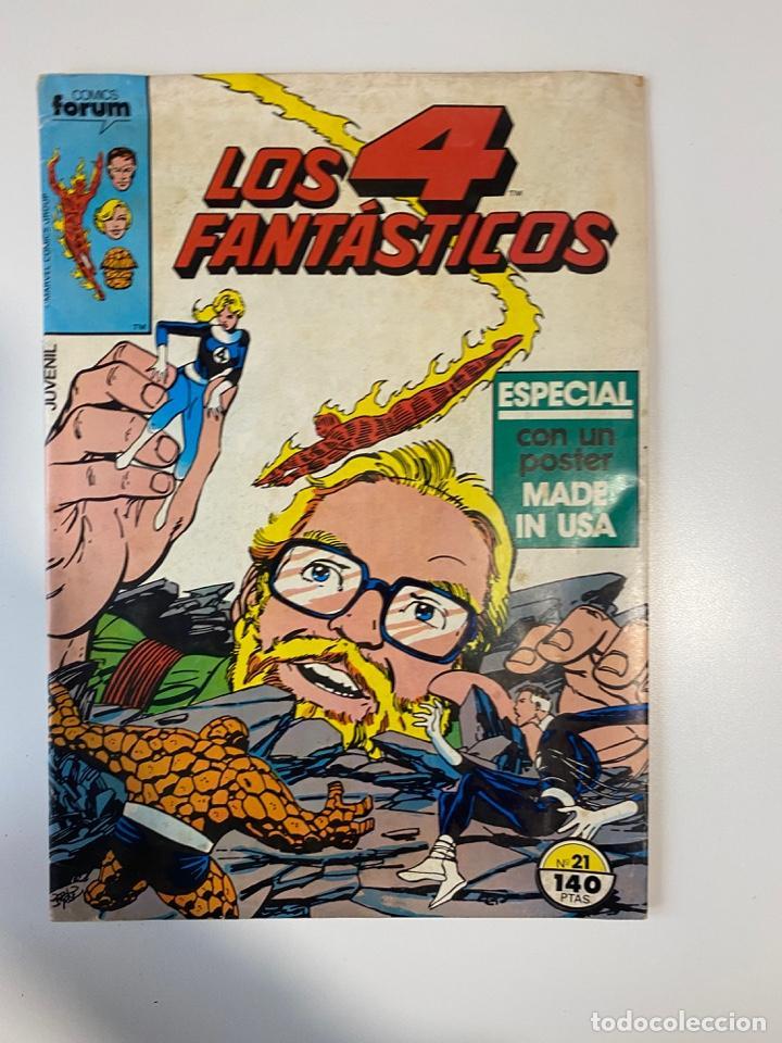 LOS 4 FANTÁSTICOS. Nº 21. EDICIONES FORUM. 1984 (Tebeos y Comics - Forum - 4 Fantásticos)
