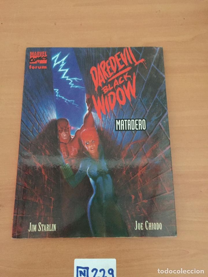 DAREDEVIL / BLACK WIDOW : MATADERO ¡ NOVELA GRAFICA ! JIM STARLIN - JOE CHIODO / MARVEL - FORUM (Tebeos y Comics - Forum - Daredevil)
