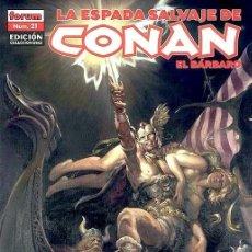 Cómics: LA ESPADA SALVAJE DE CONAN EL BARBARO - EDICION COLECCIONISTA Nº 21. Lote 235714550