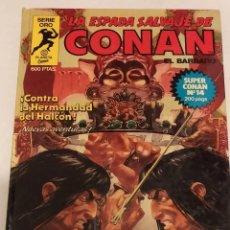 Cómics: SERIE ORO LA ESPADA SALVAJE DE CONAN Nº 14 CONTRA LA HERMANDAD DEL HALCON - FORUM 1982. Lote 235830345