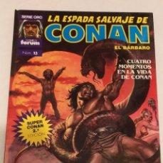 Cómics: SERIE ORO LA ESPADA SALVAJE DE CONAN Nº 13 CUATRO MOMENTOS EN LA VIDA DE CONAN - FORUM 1992. Lote 235831110