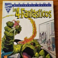 Cómics: LOS 4 FANTASTICOS Nº 01 - TOMO BIBLIOTECA MARVEL DEL 1 AL 7 USA - MARVEL COMICS FORUM. Lote 235832085