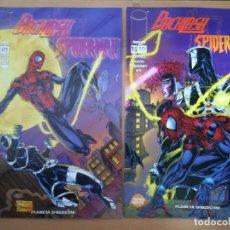 Cómics: BACKLASH/SPIDERMAN. COMPLETA EN 2 NÚMEROS. PLANETA. Lote 236062040