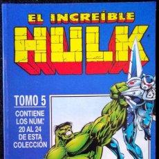 Cómics: EL INCREIBLE HULK - TOMO 5 (RETAPADO CONTIENE DEL 20 AL 24) FORUM. Lote 236158320