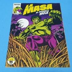 Cómics: COMIC - LA MASA EL INCREIBLE HULK N° 1 - EDICIONES FORUM. Lote 236547135