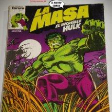 Cómics: LA MASA Nº 1 AL 5 EN TOMO RETAPADO, CON POSTER DESPLEGABLE, FORUM SERIE DE 1983, EL INCREIBLE HULK. Lote 236632735
