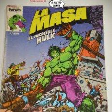 Cómics: LA MASA Nº 3, FORUM SERIE DE 1983, EL INCREIBLE HULK. Lote 236634885