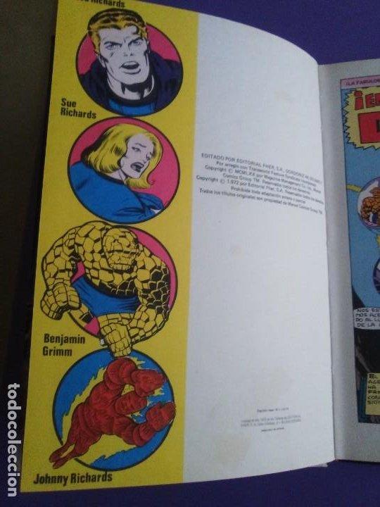 Cómics: MUY RARO COMIC. LOS 4 FANTASTICOS COLECCIÓN TELEXITO EDICIONES. LAIDA FHER 1972 KIRBY LEE COLOR - Foto 9 - 236636455