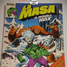 Cómics: LA MASA Nº 12, FORUM SERIE DE 1983, EL INCREIBLE HULK. Lote 236637145
