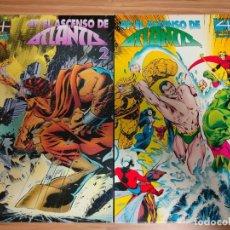 Cómics: LOS 4 FANTASTICOS EL ASCENSO DE ATLANTIS COMPLETA 1 Y 2 FORUM. Lote 236668065