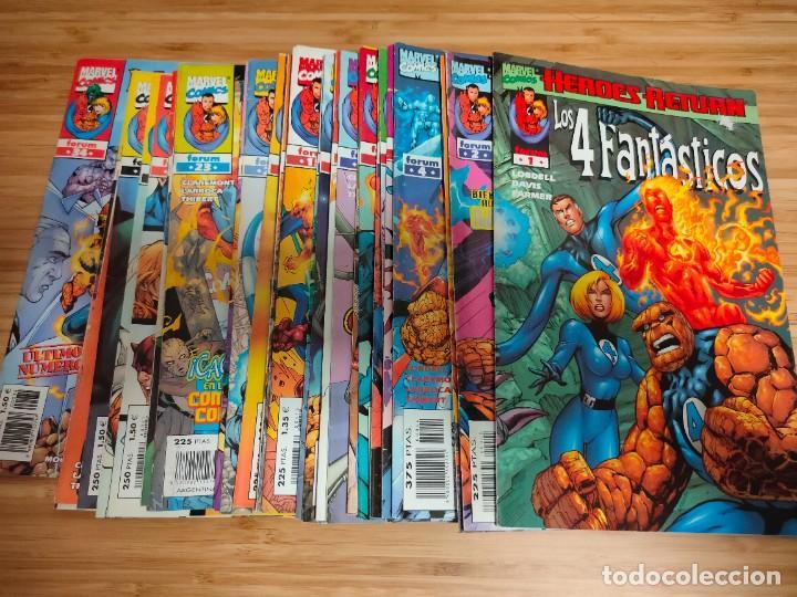 LOS 4 FANTASTICOS VOLUMEN 3 HEROES RETURN COMPLETA DEL 1 AL 34 FORUM (Tebeos y Comics - Forum - 4 Fantásticos)