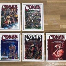 Cómics: CONAN DE BARRY WINDSOR-SMITH Y ROY. THOMAS TOMOS 1 AL 5. Lote 236753355