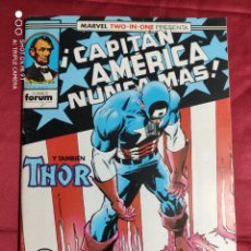 Comics: MARVEL TWO IN ONE. CAPITÁN AMÉRICA. THOR. Nº 70. FORUM. CON POSTER. Lote 237010915