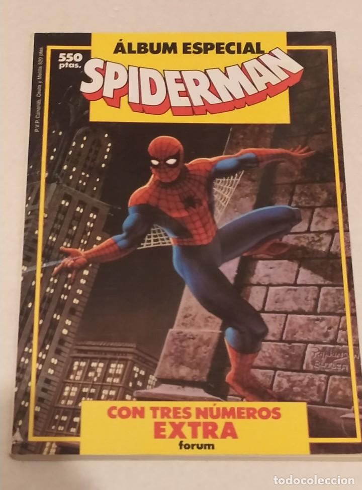 RETAPADO ALBUM ESPECIAL SPIDERMAN - COMICS FORUM- MARVEL 1987 (Tebeos y Comics - Forum - Spiderman)