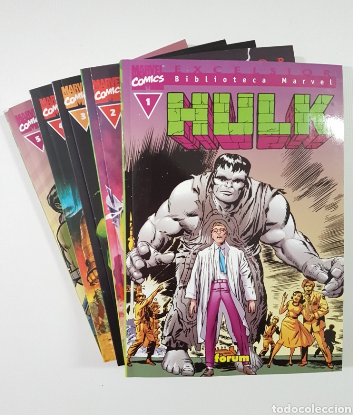 BIBLIOTECA HULK TOMOS 1 2 3 4 5 - FORUM MARVEL (Tebeos y Comics - Forum - Hulk)