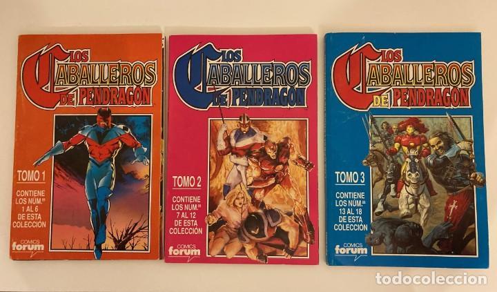 LOS CABALLEROS DE PENDRAGÓN, MAXISERIE COMPLETA (18 NÚMEROS) EN TRES TOMOS REPATADOS, FORUM (Tebeos y Comics - Forum - Retapados)