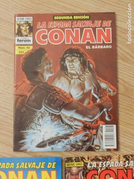 Cómics: Lote 3 La espada salvaje de CONAN Vol.I Volumen 1 Forum Serie Oro núm. 46, 48 y 49 - Foto 2 - 237473700