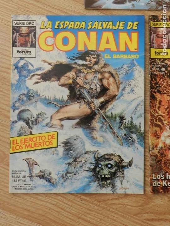 Cómics: Lote 3 La espada salvaje de CONAN Vol.I Volumen 1 Forum Serie Oro núm. 46, 48 y 49 - Foto 3 - 237473700