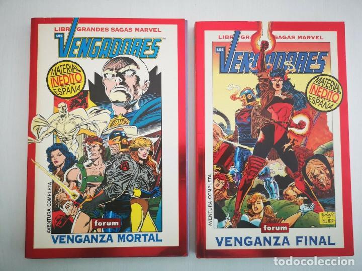 GRANDES SAGAS MARVEL LOS VENGADORES VENGANZA MORTAL Y VENGANZA FINAL BOB HARRAS STEVE EPTING (Tebeos y Comics - Forum - Vengadores)